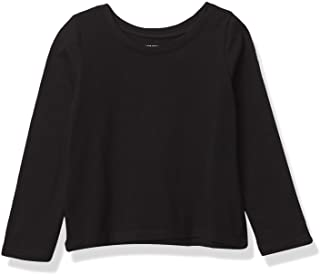 The Children's Place baby girls Long Sleeve Basic Top T Shirt, Black, 5T US