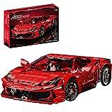 HZYM Coche de carreras 1:8 para Ferrari 458 Spider, 3380 bloques de montaje Supercar, modelo de coche de carreras compatible con Lego Technic