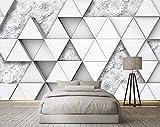 Flor de origami del papel pintado del triángulo blanco Rn Decoración de la pared de los cuadros no tejidos 3D Pared Pintado Papel tapiz 3D Decoración dormitorio Fotomural sala sofá mural-300cm×210cm