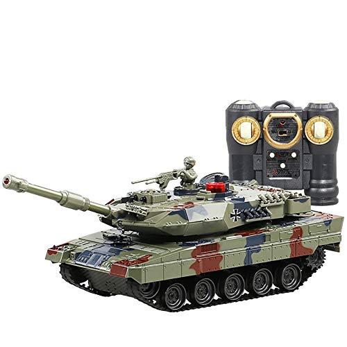 ZUOQUAN Tanque De Control Remoto Eléctrico Torreta 350 ° De Rotación Manual...