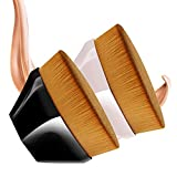 Pennello Fondotinta,Spazzola Per Fondotinta A Forma Di Petalo,Pennello per fondotinta Liquido Pennello per trucco con custodia,adatto per miscelare liquido,crema,correttore Premium(2pcs)