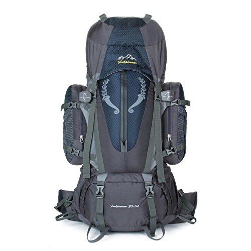 Backpack éclairage Grande contenance Sac à Dos d'alpinisme/Sports de Plein air Sac/Sacs/Sac à Dos de Camping 80l-Black 90L