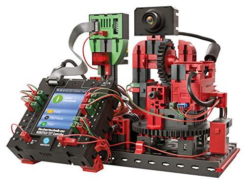 fischertechnik 544624 Roboter TXT Bausatz für Kinder zum selbst programmieren-6 Verschiedene Modelle zum Trendthema Smart Home wie z.B. Sensorstation, Barometer, und viele mehr