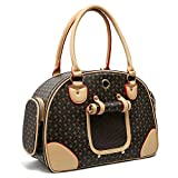 YKB Fashion Pet Carrier Dog Carrier Purse Dog Foldable Handbag Pet Tote Bag for Cat Puppy and Small Dog Airline-Approved