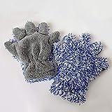 Autowaschhandschuh Mikrofaser, klassischer Waschhandschuh für Autos, Kratzfest-Handschuhe 30 * 27,5...