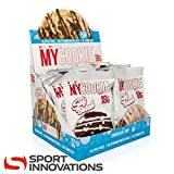 ProSupps MyCookie Glutenfrei Keks Eiweiß Protein Saftiger Cookie Keks 80g (12x White Choco Chip - Weiße Schoko)