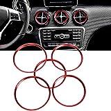 Euopat Anillo de Ajuste Sticke, Aire Acondicionado Salida de ventilación Cubierta del Anillo Etiqueta Adhesiva Adecuado 2013-18 para Mercedes-Benz Clase A Clase B CLA GLA Salida de ventilación de Air