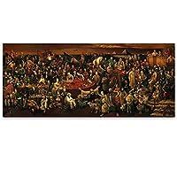 モダンプレミアムキャンバスアート有名な人々の絵画ダンテプリントで神のコメディを議論リビングルーム60x120cm1PCSNoframeのポスター