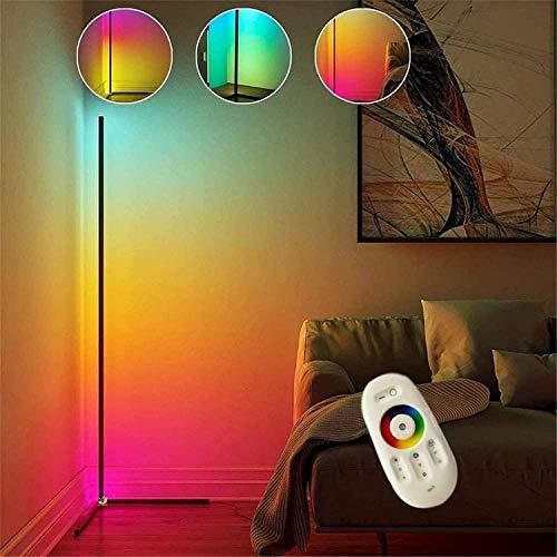 CJLMN Lámparas de Pie para Salon,LED Regulable con Cambio de Color RGB y Mando a Distancia,Estilo Minimalista y Moderno,para salón,Dormitorio o para Navidad