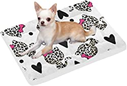 InterestPrint Animals Skull Mexican Owl Fox and Llama Reusable Dog Bed Mat Soft Washable Pet Pad Bed for Dogs & Cats, 42x26 Inch