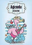 Agenda 2020 Flamingo: Tema Flamingos Agenda Mensual y Semanal + Organizador Diario I Planificador Semana Vista A4 (Spanish Edition)
