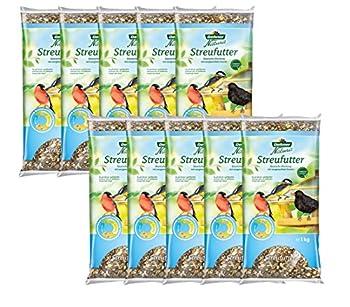 Dehner Natura Nourriture pour oiseaux sauvages, mélange de graines - 1 kg - Lot de 10