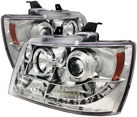 Black High H1 Included Included Light Bar DRL - Low H7 Spyder 5082565 Chevy Suburban 1500//2500 07-14 // Chevy Tahoe 07-14 // Avalanche 07-14 Version 2 Projector Headlights