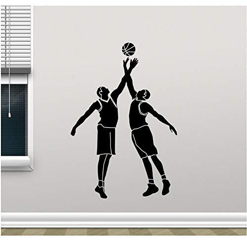 Calcomanías De Pared Para Jugadores De Baloncesto Logotipo De Canasta De Pelota Etiqueta De Vinilo Deporte Decoración De Pared Arte De Pared Niños Habitación De Niños Etiqueta De Pared 41X60Cm