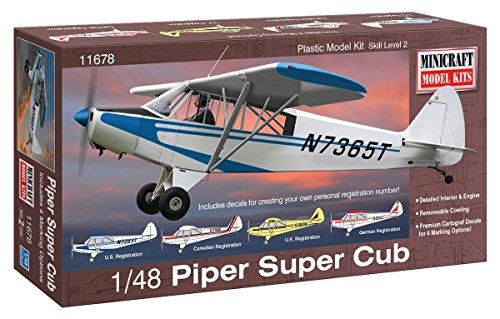 Minicraft Models Dempsey Designs Morceau modèles 1 : 48 Kit Échelle modèle Piper Super Cub