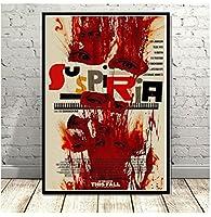 Yuuv Suspiriaクラシックホラー映画のポスターとプリントキャンバス絵画の写真を壁にヴィンテージフィルムの装飾家の装飾Obrazy(23.62X35.43 In)60X90Cmフレームなし