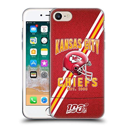 Head Case Designs Offizielle NFL Football Streifen 100ste 2019/20 Kansas City Chiefs Soft Gel Handyhülle Hülle Huelle kompatibel mit Apple iPhone 7 / iPhone 8 / iPhone SE 2020