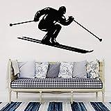 yaofale Decoración de la habitación Etiqueta de la Pared de esquí Esquí Etiqueta de Vinilo Impermeable Sala de Estar Decoración del hogar Dormitorio Juvenil Arte Mural