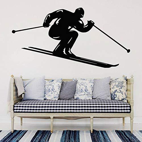 yaonuli Indoor decoratie ski muur decals ski waterdichte vinyl stickers woonkamer huisdecoratie jeugd slaapkamer kunst muurschilderingen
