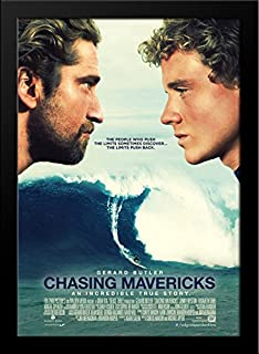 Chasing Mavericks 28x36 Large Black Wood Framed Movie Poster Art Print