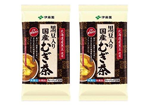 伊藤園 国産むぎ茶 黒豆入り ティーバッグ30袋 ×2セット