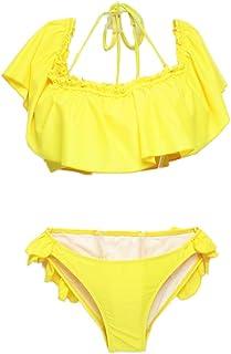 a09f8e807175 Amazon.es: volantes - Amarillo / Bikinis / Ropa de baño: Ropa