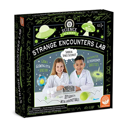MindWare Science Academy Strange Encounters lab - Kids & Teens Make a Glowing orb, Lunar Landscape & Bouncy Ball with Our 21pc Set - Wild & Weird Experiments for Boys & Girls - Great Educational Gift
