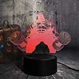 3D Mancuerna gigante ilusión Optica Lámpara Luz Nocturna LED 7 Colores Cambiantes Touch USB de Suministro de Energía Juguetes Decoración Cumpleaños Navidad Regalo para niños