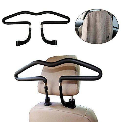 Auto Kleiderbügel, Autokleiderbügel für Kopfstütze, Kopfstützen-Kleiderbügel, hochwertige Ausführung Chrom Kleiderbügel, Car Headrest Hanger für Kopfstütze Halter für Kleiderbuegel Kleidung Anzuege Ja