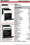 Exquisit Standherd ECM 5-4 | Elektro-Standherd | 50 cm | Glaskeramik-Kochfeld | 46 L Garraum | Weiß - 8