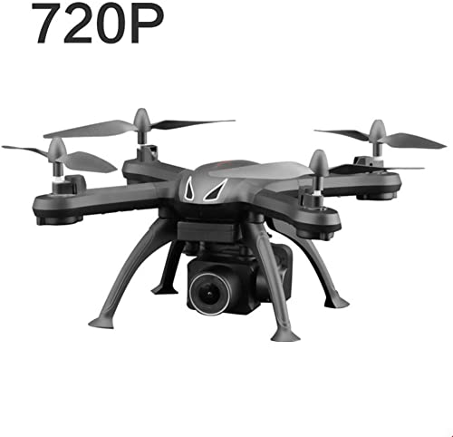 WJQHH Drone GPS Hélicoptère FPV Caméra 120° Grand Angle Réglable HD 1080P Télécomhommede RC WiFi avec Flips 3D Retour,noir-720p