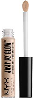 NYX Professional Makeup Away We Glow Liquid Highlighter, Crystal Glare, 0.22 Fluid Ounce