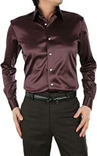 Camicia da Uomo Smart Casual Formale Verde /& Nero Doppio Colletto Maniche Lunghe