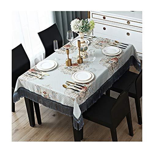 Tafelkleed rechthoekig gemengd blauw stof tafelkleed voor thuis keuken vlek stofdichte tafelkleed ZXY