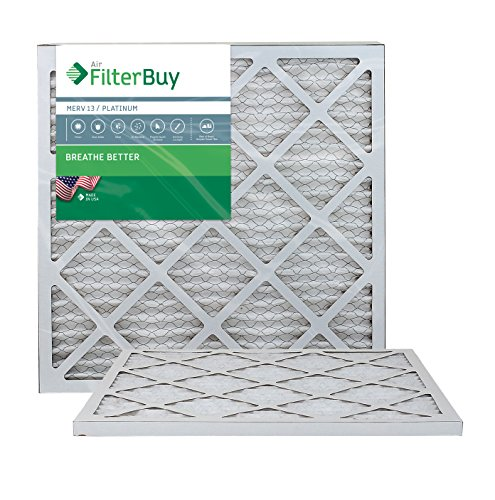 FilterBuy 20x20x1 MERV 13 Pleated AC Furnace Air...