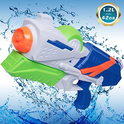 MOZOOSON Spielzeug für Kinder ab 6 Jahren, 1.2L Wasserpistolen mit BIS ZU 12 Meter Langer Reichweiter für Kinder Erwachsene, Leistungsstarke Wasserpistole Außenbereich Strand Wasserschlacht