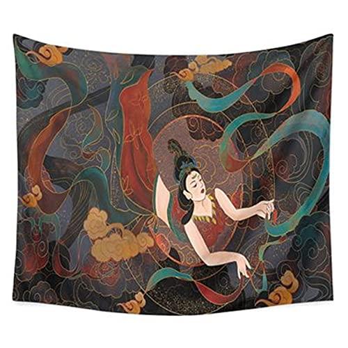 YYRAIN Tapiz De Alce Impreso Toalla De Playa Multifuncional Decoración para El Hogar Cubierta De Cama Tela De Fondo Paño Colgante 92.51x70.86 Inch{235x180cm} D
