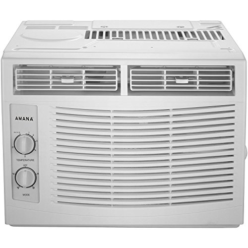AMANA 5,000 BTU 115V Window-Mounted Air Conditioner with Mechanical Controls, White