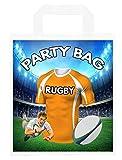 Bolsas de fiesta temáticas de rugby, para regalos, botín, eventos, colores guepardos (paquete de 6)