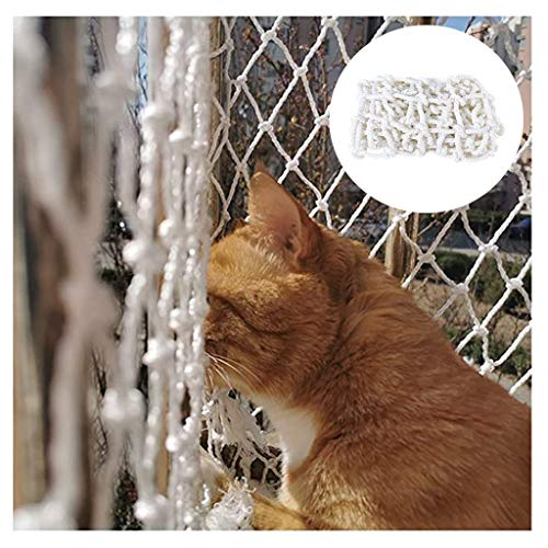 Cat Protection Net Balcony Decoration Network,White Robust Protective Net Building Fence Construction Site Protection Network(Multi-size) (Color : 10cm Mesh, Size : 3 * 3M)