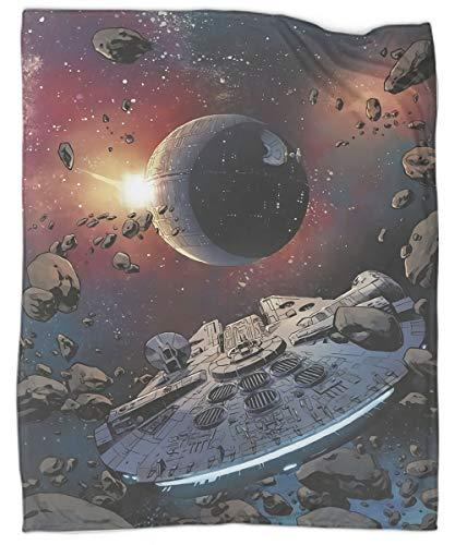 Star Trek Millennium Falcon - Manta infantil para sofá, cama, sofá, viajes, para todas las estaciones adecuada para mujeres, hombres y niños 50 x 60 pulgadas