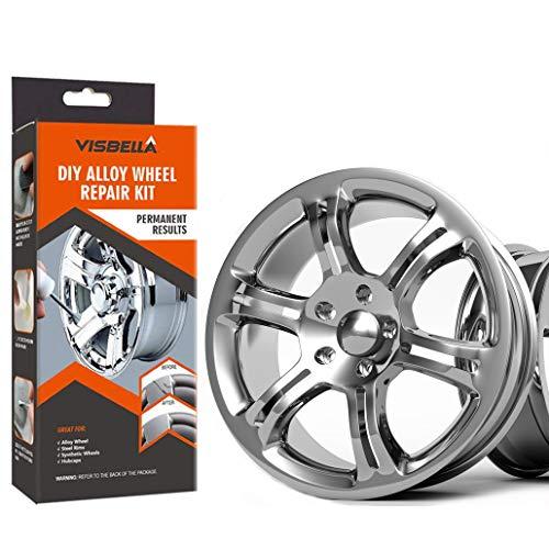 Visbella halbe Stunde Quick Fix DIY Leichtmetallrad Reparaturkleber Kit Felgenoberflächenschäden Auto Auto Felge Dent Kratzer Pflege (227-g) (S212-N)