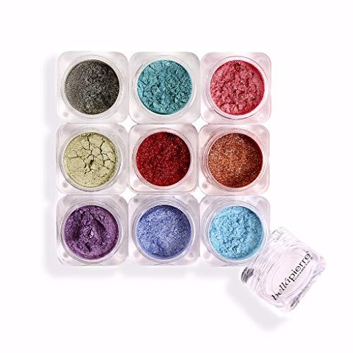 bellápierre Shimmer Powder 9 - Stack Fabulous Lids chatten 9x1,75 g