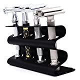 Parker Safety Razor Double Edge Razor Stand – Solid Brass with Black Finish –Holds 4 Razors – Parker Stand with Padded Base – Excellent Storage for Long Handled Double Edge Safety Razors