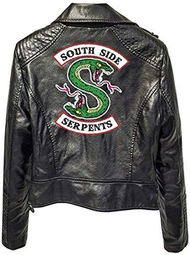 ULIIM Moda Riverdale Impreso PU Southside Logotipo De Riverdale Serpentes Chaquetas Mujer Riverdale Serpientes Streetwear Chaqueta De Cuero