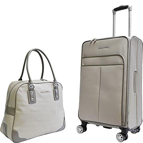 Adrienne Vittadini Stingray Lightweight Upright & Expandable Luggage Set (2 Piece Set, Gray)