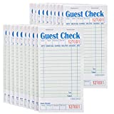 Stock Your Home Guest Check Book (20 Books) 3.5' x 6.75' Server Notepads and Waitress Order Pads - 50 Checks Per Book for Total 1,000 Guest Checks