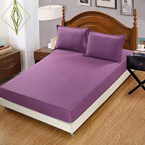 Vommpe - Sábana bajera de 120 x 200 cm, colchón grueso de 30 cm, color gris, morado, 150x190x30cm