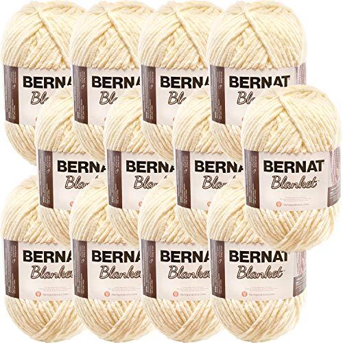 Bernat Blanket Yarn, Vintage White, Multipack of 12