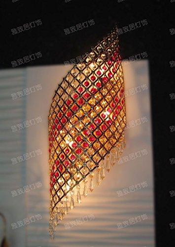 VanMe Lampe De Mur Cristal Rouge Lampe Couloir De Cristal Le Corridor Mur Lampe Salon Tv Dans Les Appliques De Salle